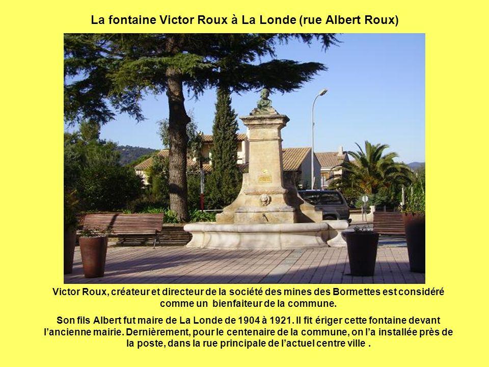 La fontaine Victor Roux à La Londe (rue Albert Roux)