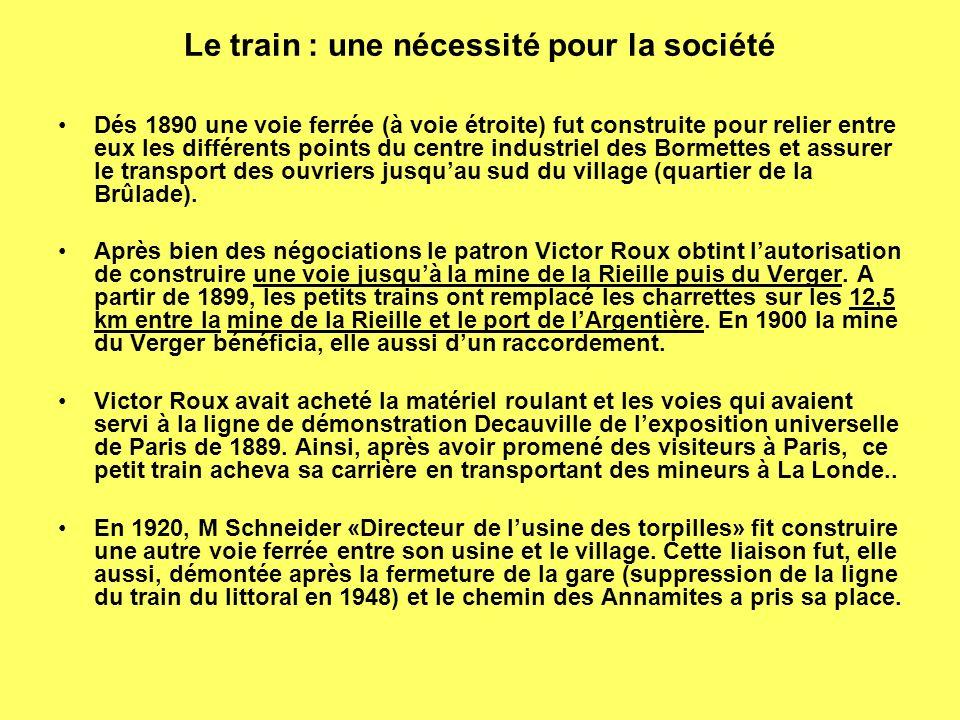 Le train : une nécessité pour la société