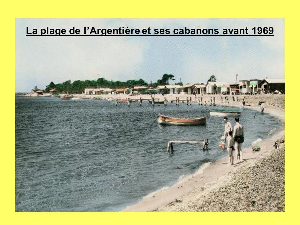 La plage de l'Argentière et ses cabanons avant 1969