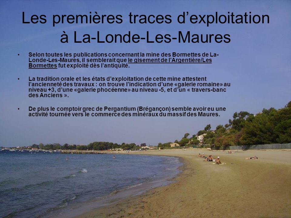 Les premières traces d'exploitation à La-Londe-Les-Maures
