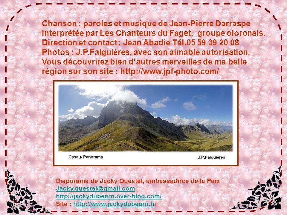 Chanson : paroles et musique de Jean-Pierre Darraspe