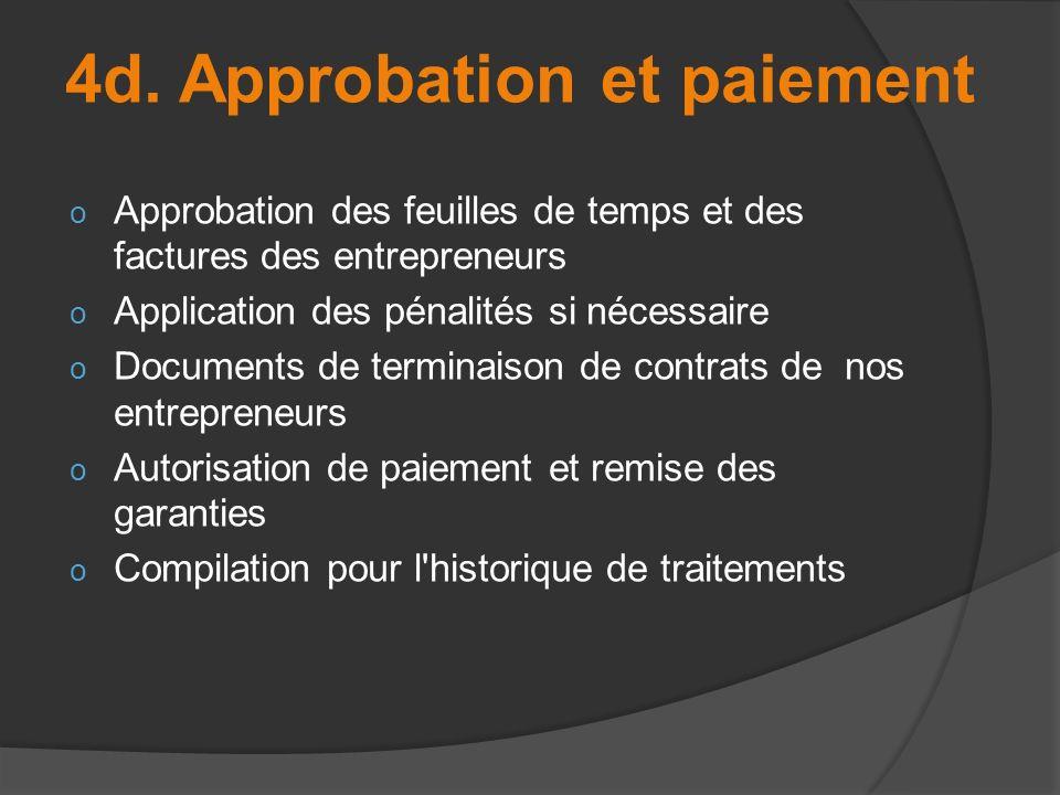 4d. Approbation et paiement