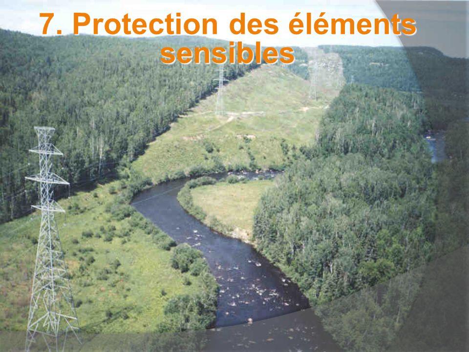 7. Protection des éléments sensibles