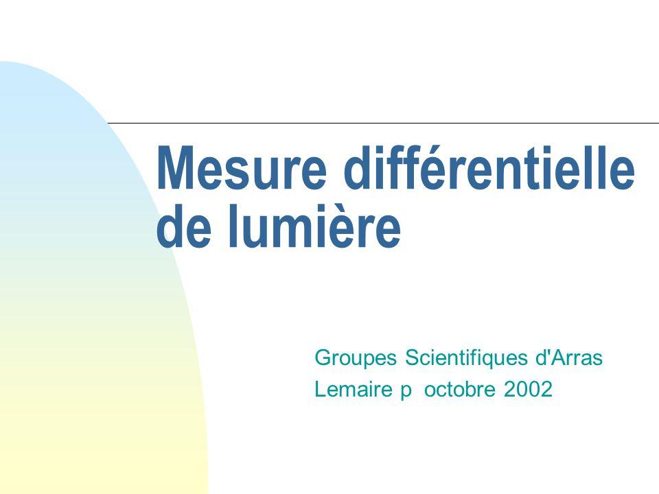 Mesure différentielle de lumière