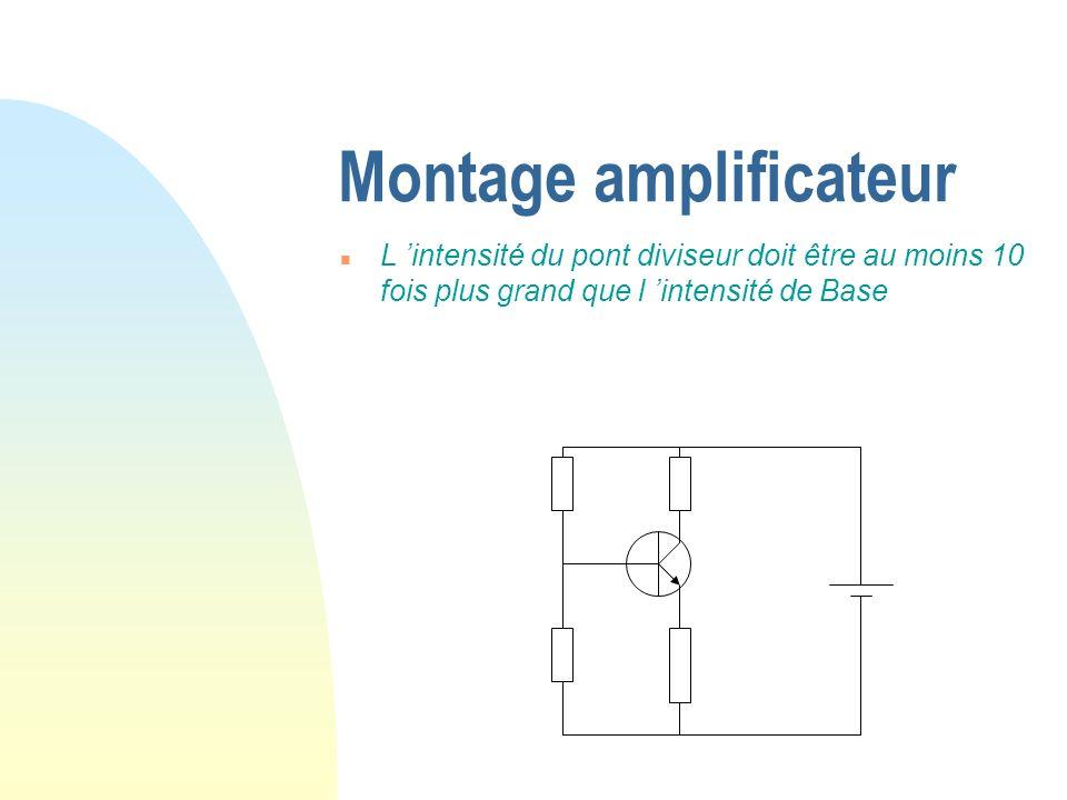 Montage amplificateur