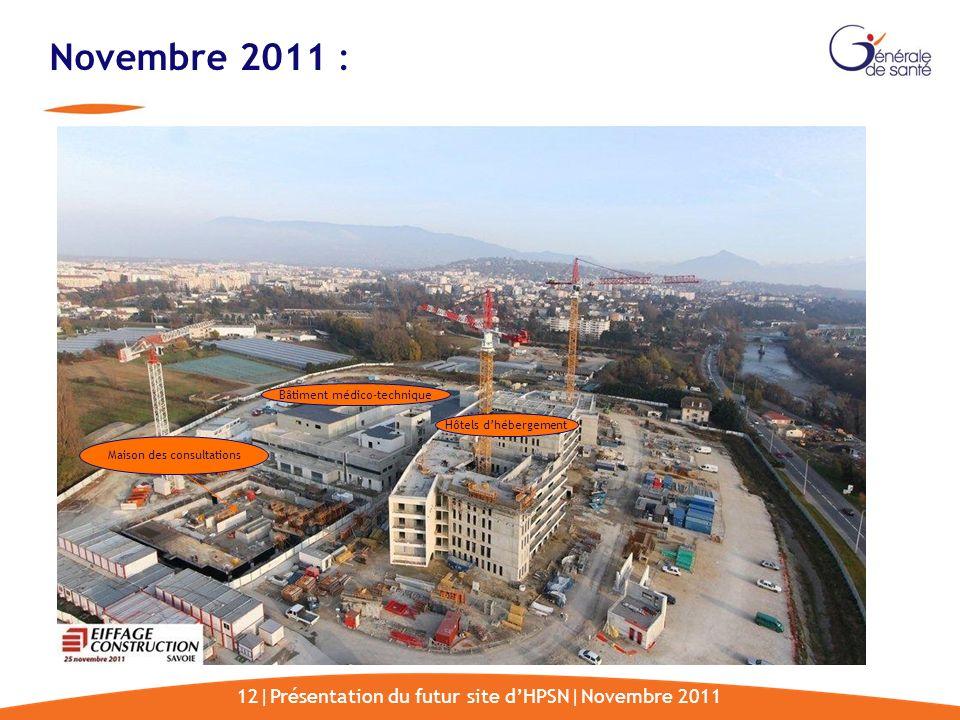 Novembre 2011 : 12|Présentation du futur site d'HPSN|Novembre 2011