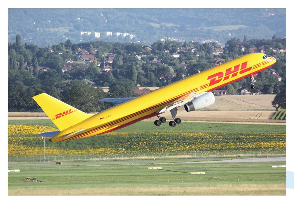 DHL, qui utilise un Boeing 737-300 les jours de semaine, opère également un vol le samedi matin avec un Boeing 757-200.