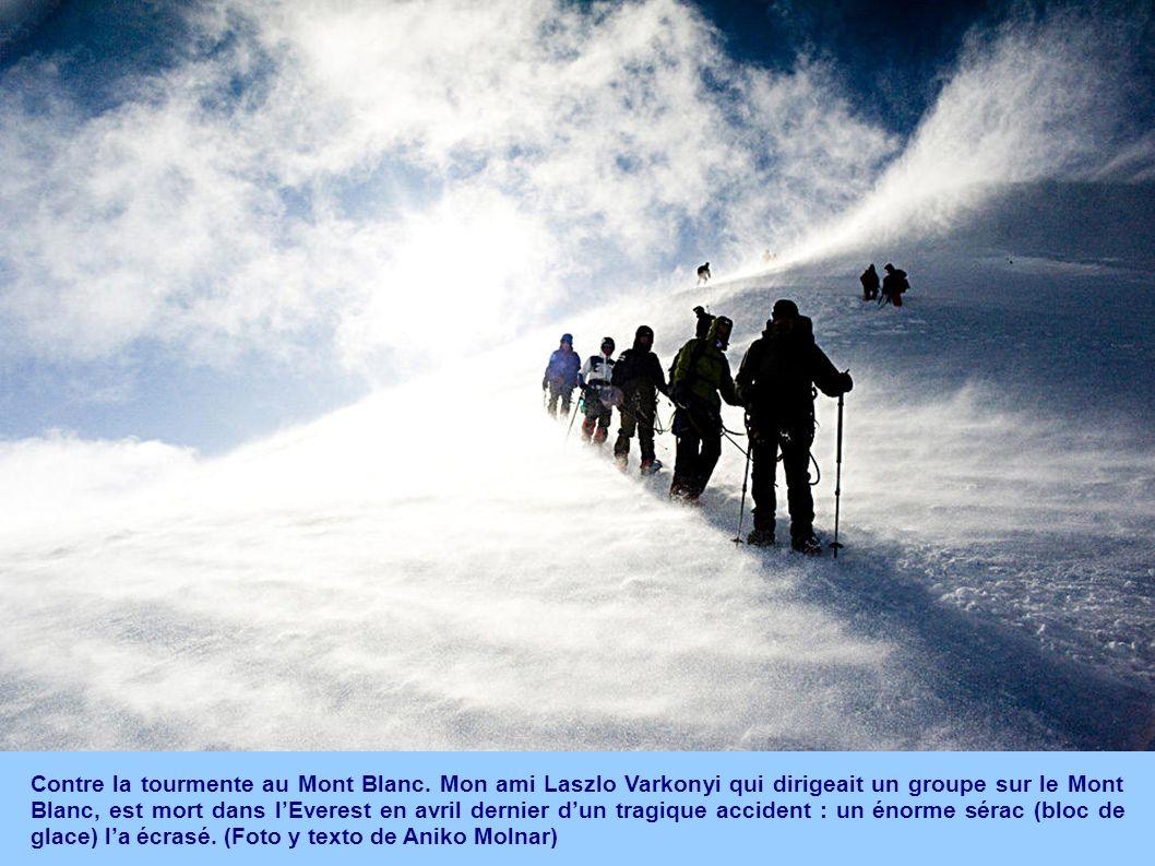 Contre la tourmente au Mont Blanc