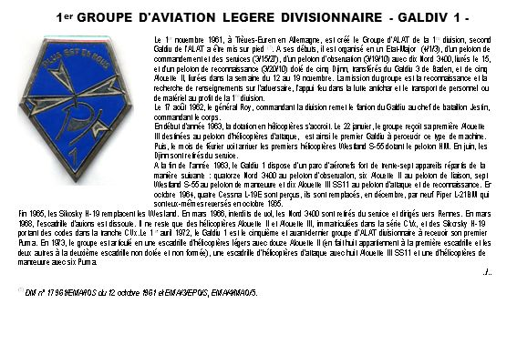 1er GROUPE D AVIATION LEGERE DIVISIONNAIRE - GALDIV 1 -