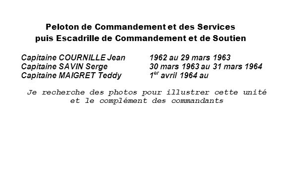 Capitaine COURNILLE Jean 1962 au 29 mars 1963
