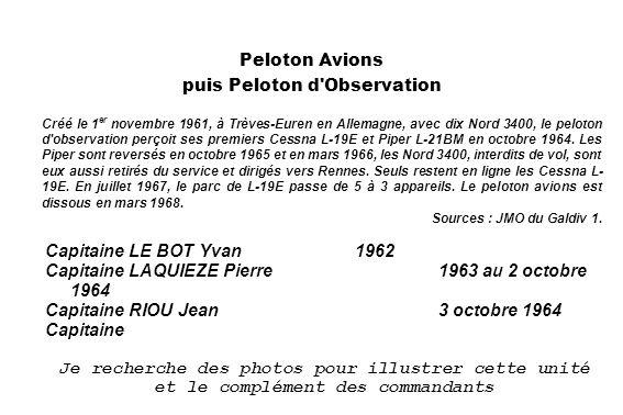 Peloton Avions puis Peloton d Observation