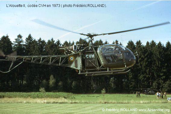 L Alouette II, codée CVH en 1973 ( photo Frédéric ROLLAND).