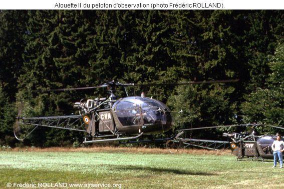 Alouette II du peloton d observation (photo Frédéric ROLLAND).