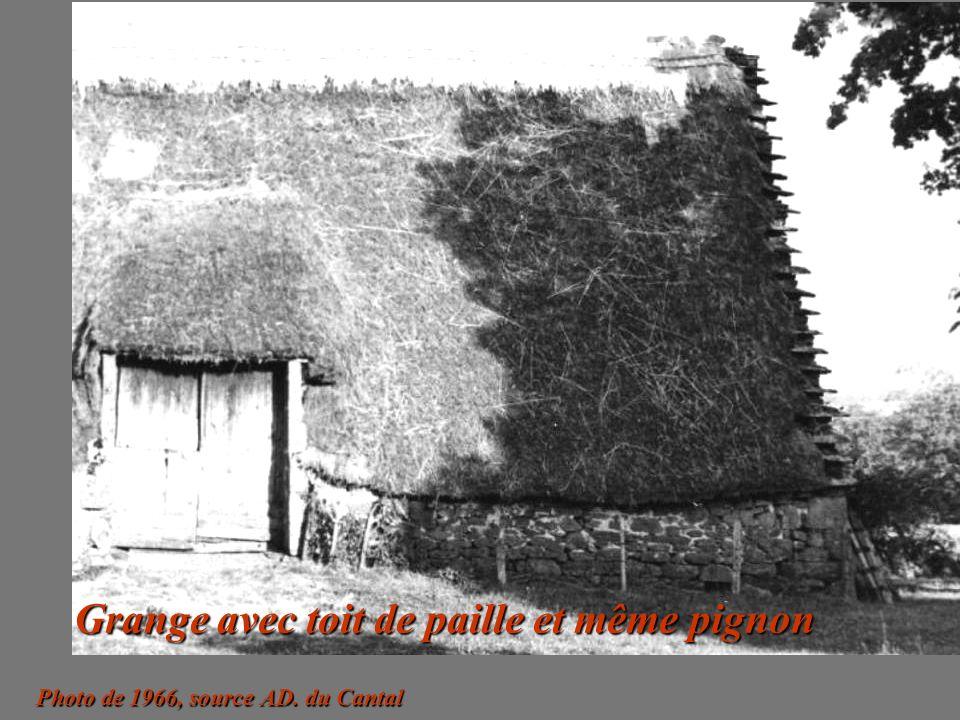 Grange avec toit de paille et même pignon
