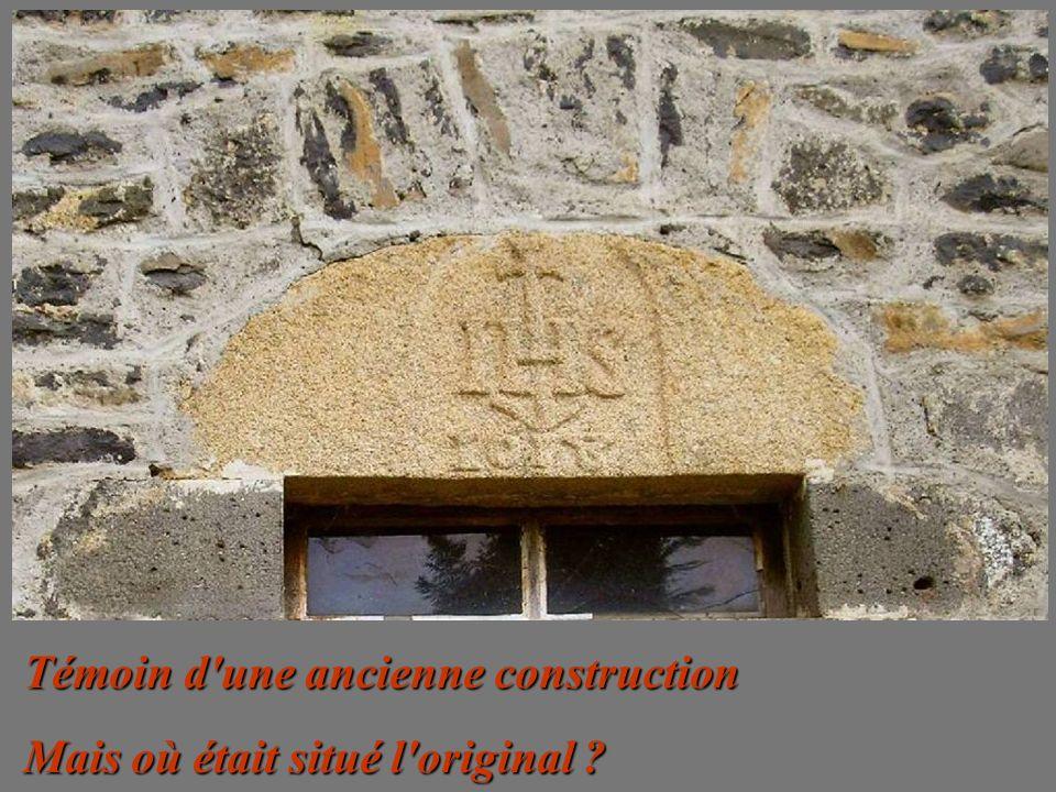 Témoin d une ancienne construction
