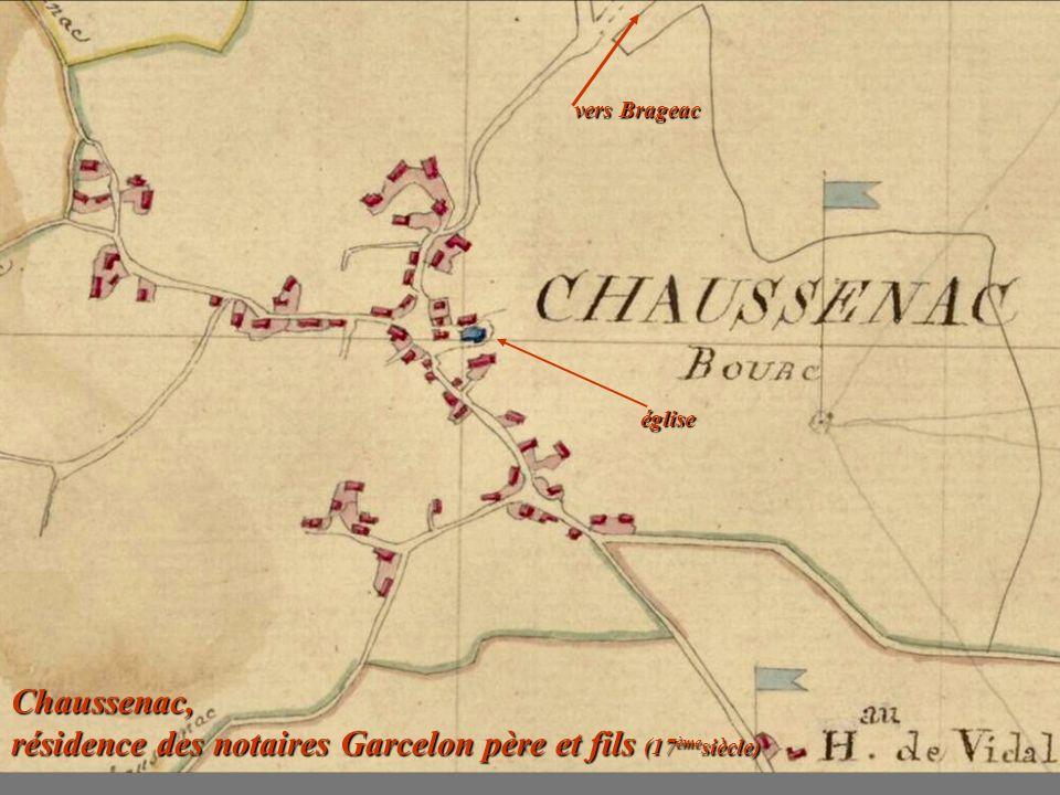 Chaussenac, résidence des notaires Garcelon père et fils (17èmesiècle)