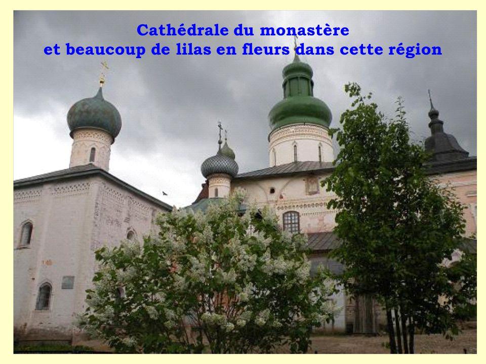 Cathédrale du monastère et beaucoup de lilas en fleurs dans cette région