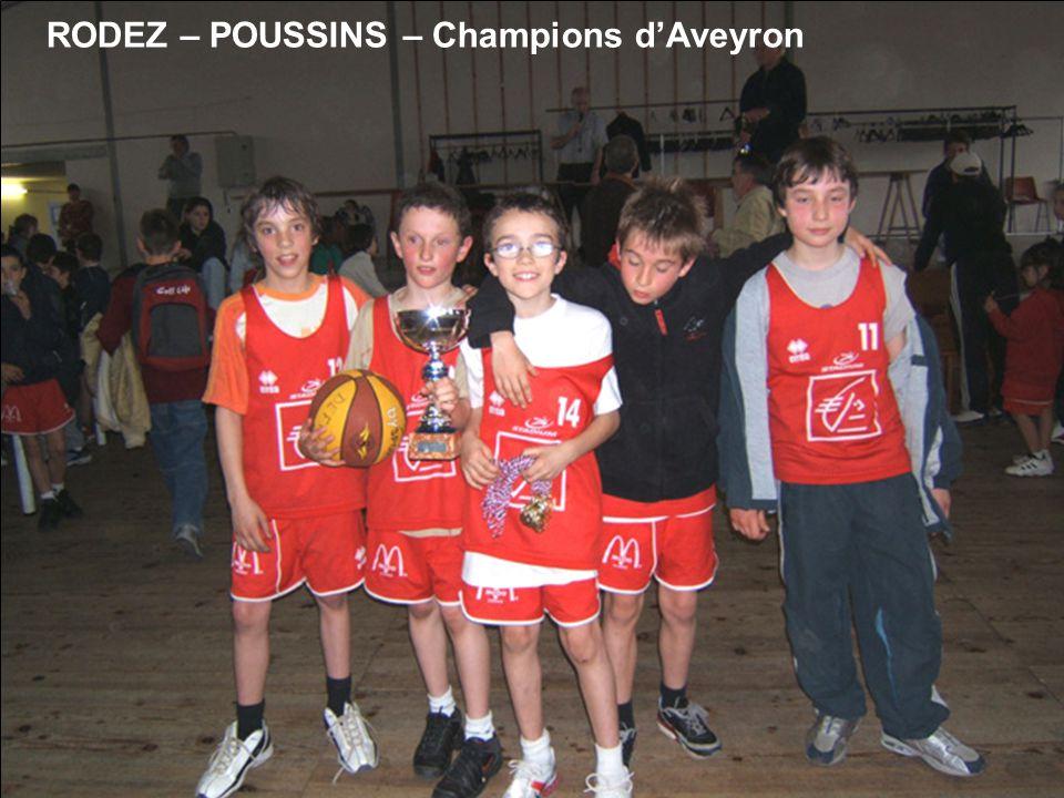 RODEZ – POUSSINS – Champions d'Aveyron