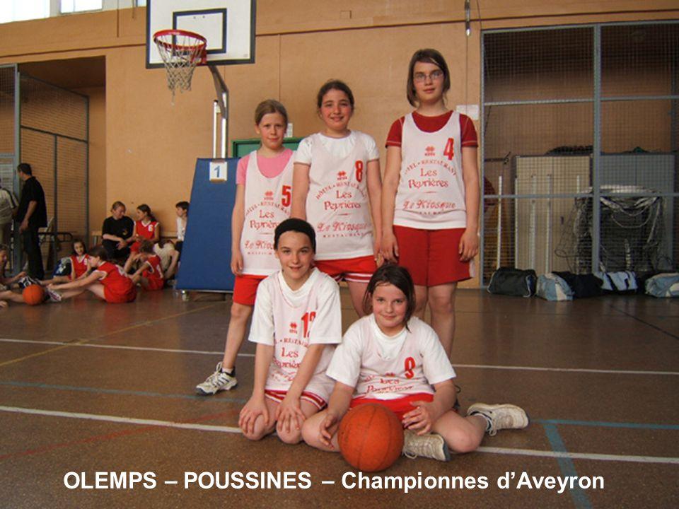 OLEMPS – POUSSINES – Championnes d'Aveyron