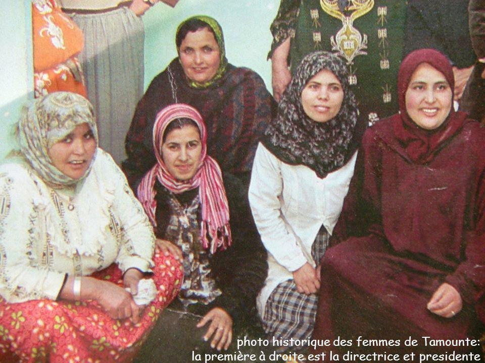photo historique des femmes de Tamounte: