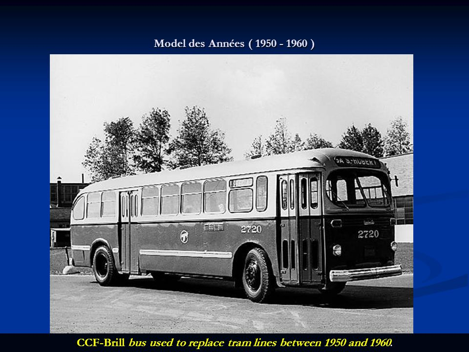 CCF-Brill bus used to replace tram lines between 1950 and 1960.