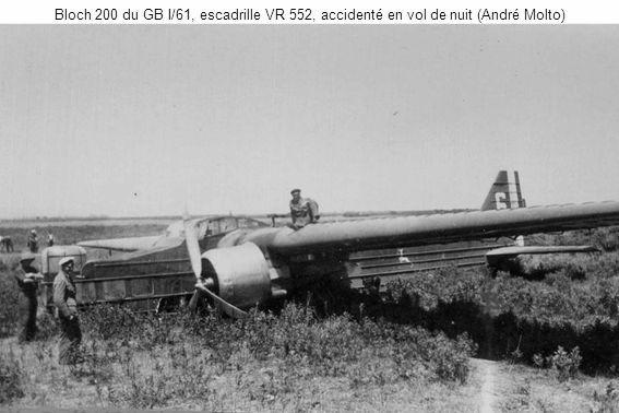 Bloch 200 du GB I/61, escadrille VR 552, accidenté en vol de nuit (André Molto)
