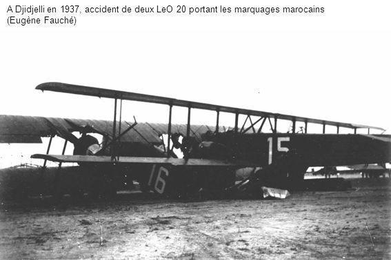 A Djidjelli en 1937, accident de deux LeO 20 portant les marquages marocains