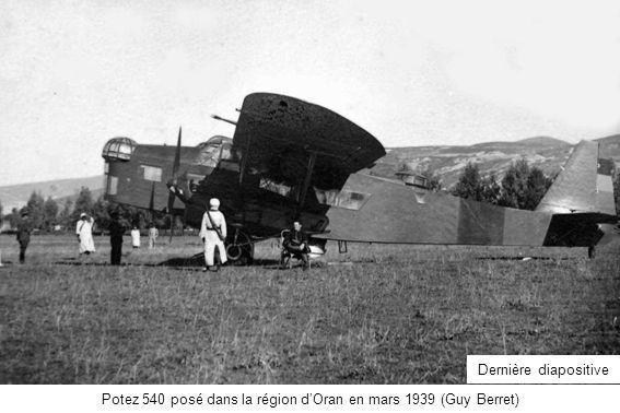 Potez 540 posé dans la région d'Oran en mars 1939 (Guy Berret)