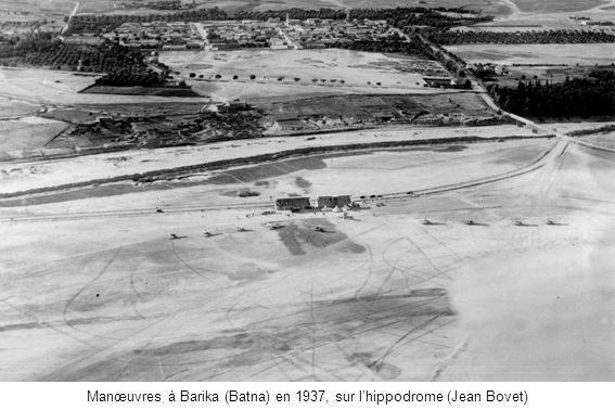 Manœuvres à Barika (Batna) en 1937, sur l'hippodrome (Jean Bovet)