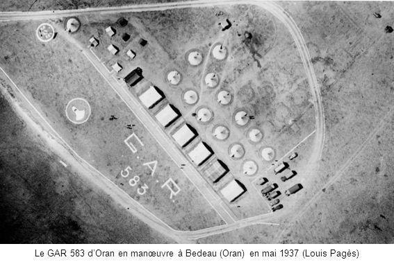 Le GAR 583 d'Oran en manœuvre à Bedeau (Oran) en mai 1937 (Louis Pagès)