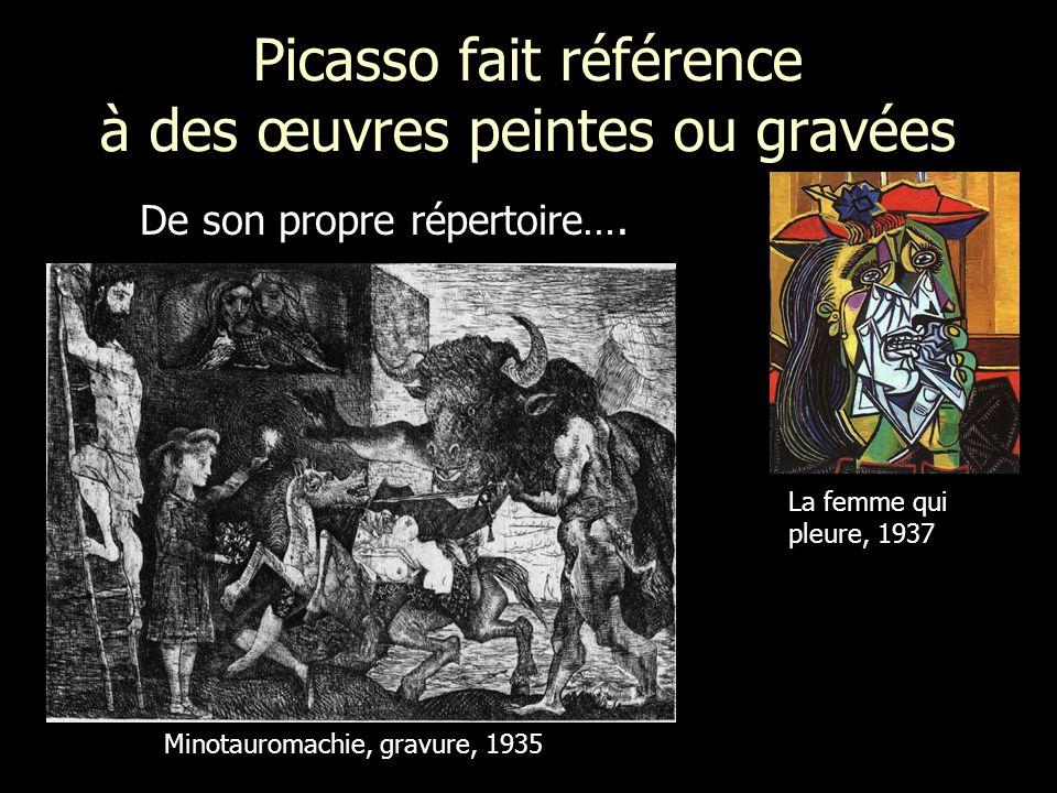 Picasso fait référence à des œuvres peintes ou gravées
