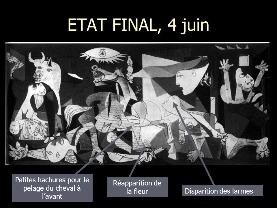 ETAT FINAL, 4 juin Petites hachures pour le pelage du cheval à l'avant