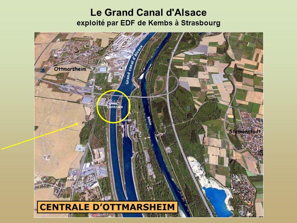 Le Grand Canal d Alsace exploité par EDF de Kembs à Strasbourg