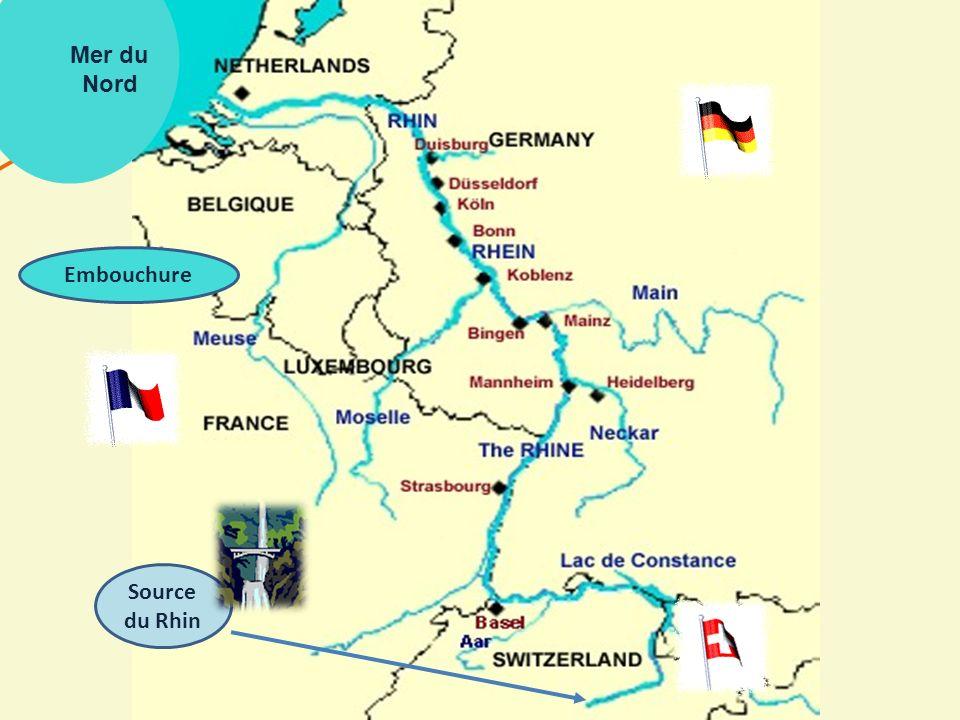 Mer du Nord Embouchure Source du Rhin
