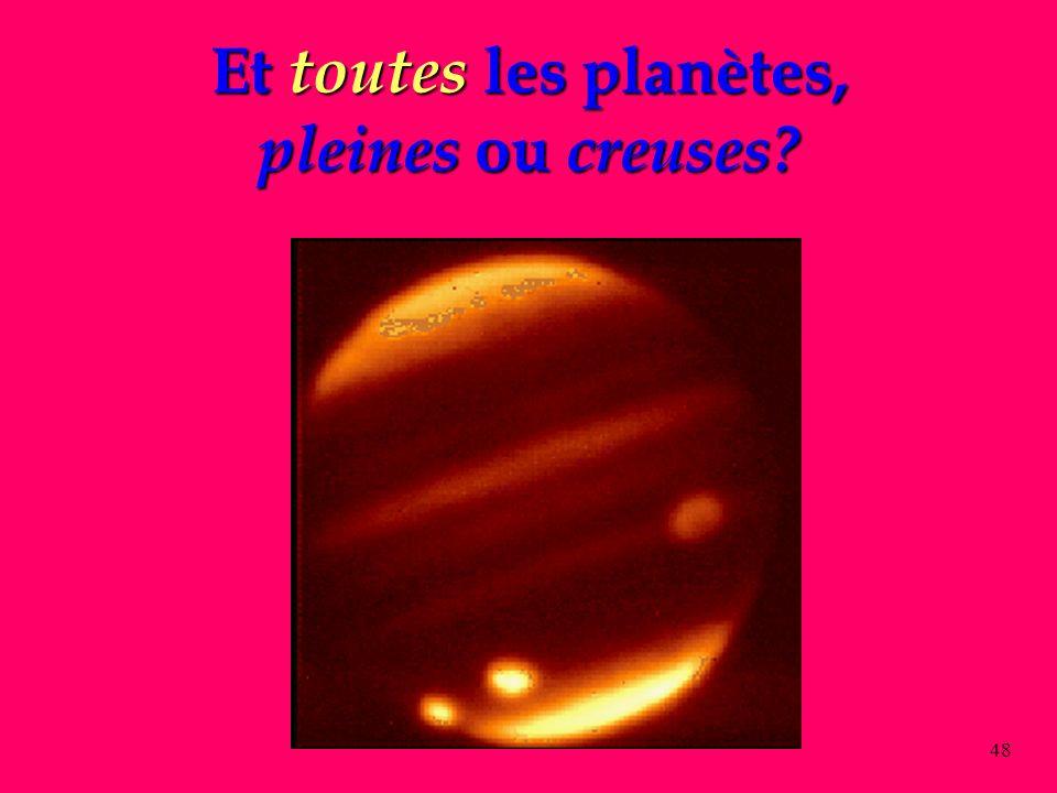 Et toutes les planètes, pleines ou creuses
