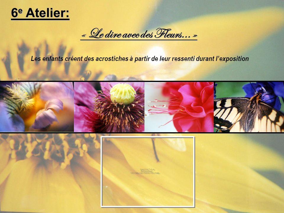 « Le dire avec des Fleurs… »