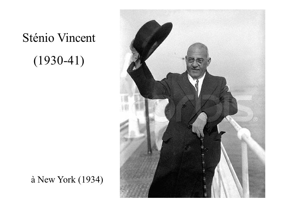 Sténio Vincent (1930-41) à New York (1934)