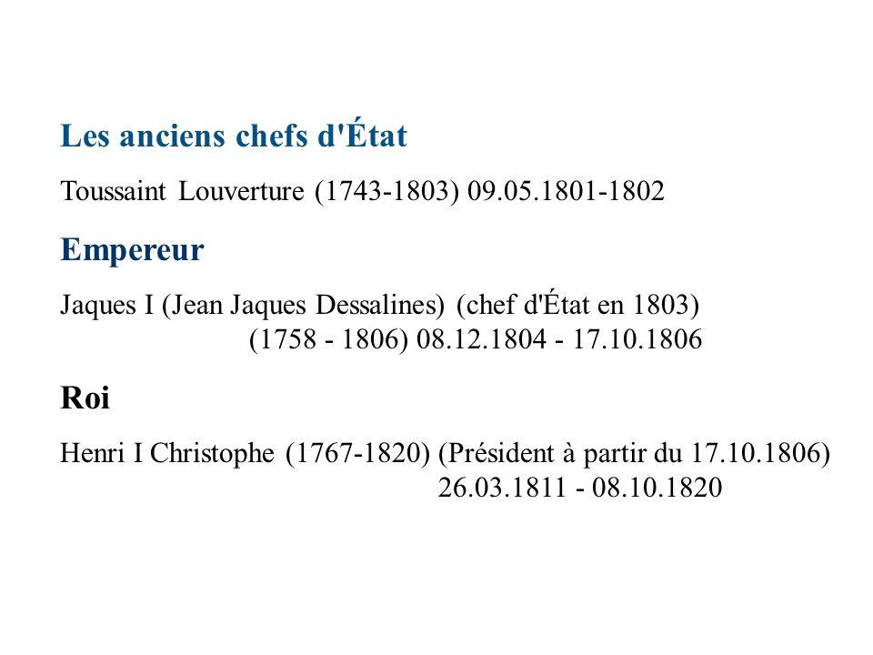 Les anciens chefs d État Empereur