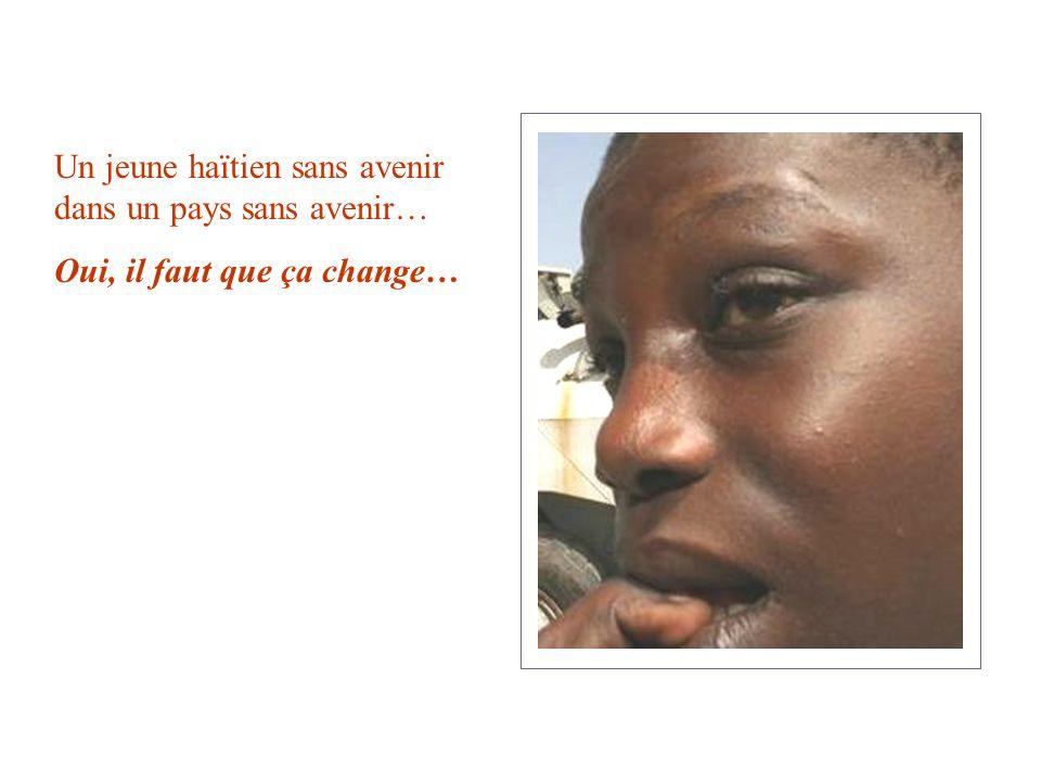 Un jeune haïtien sans avenir dans un pays sans avenir…