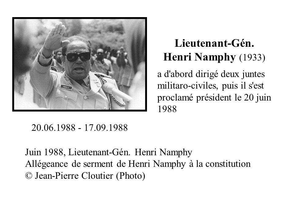 Lieutenant-Gén. Henri Namphy (1933)