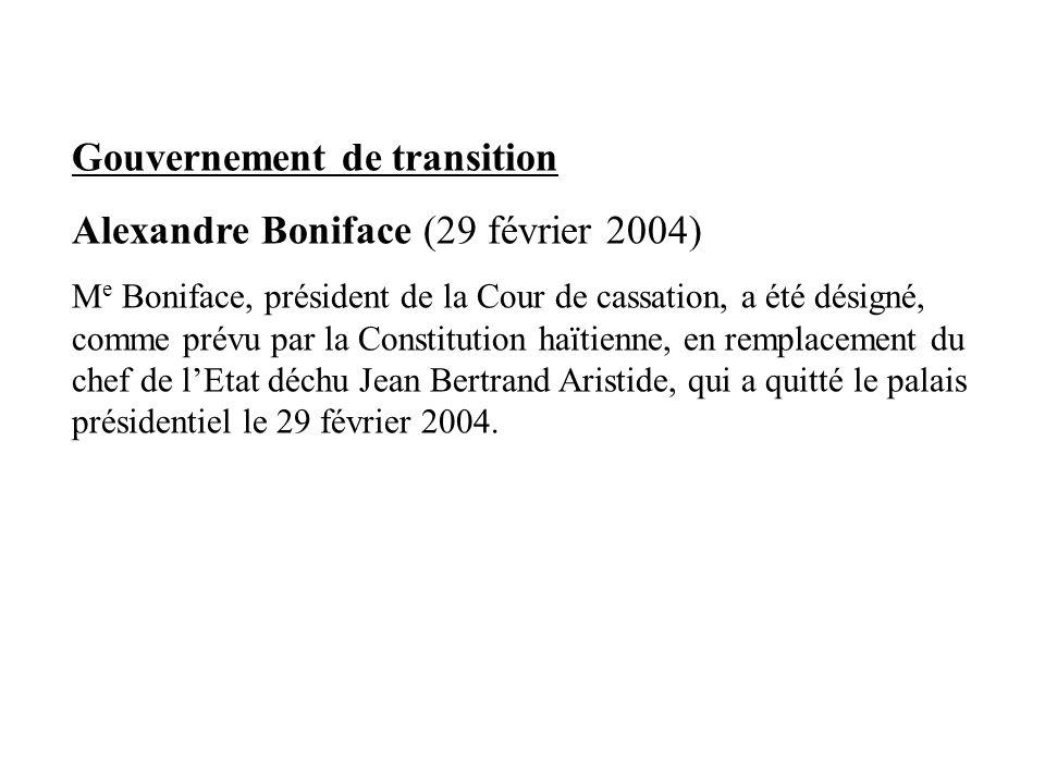 Gouvernement de transition Alexandre Boniface (29 février 2004)