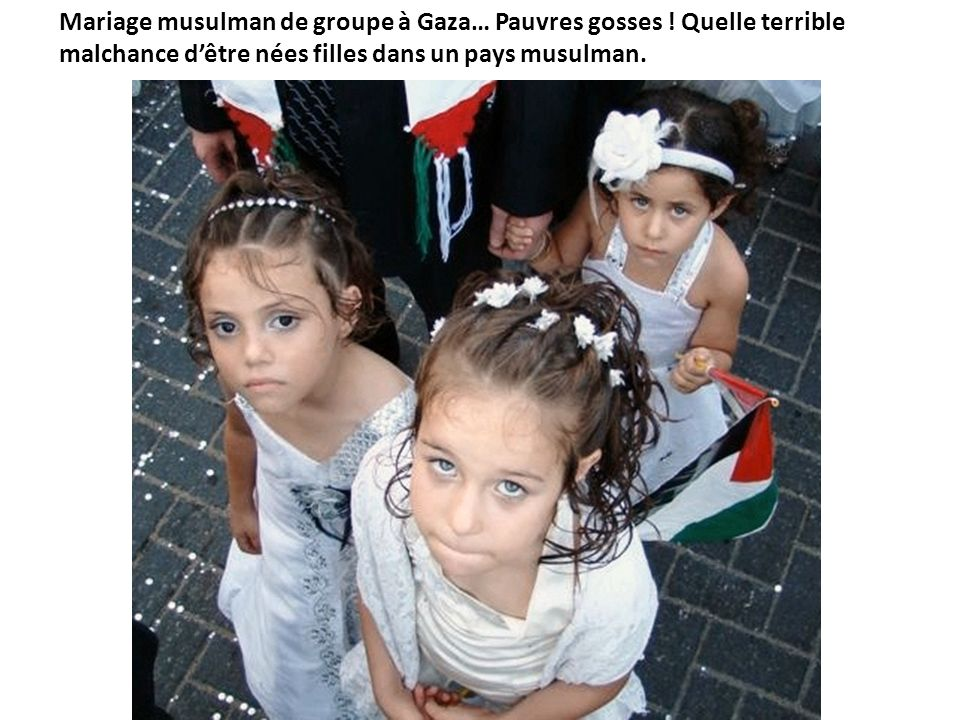 Mariage musulman de groupe à Gaza… Pauvres gosses