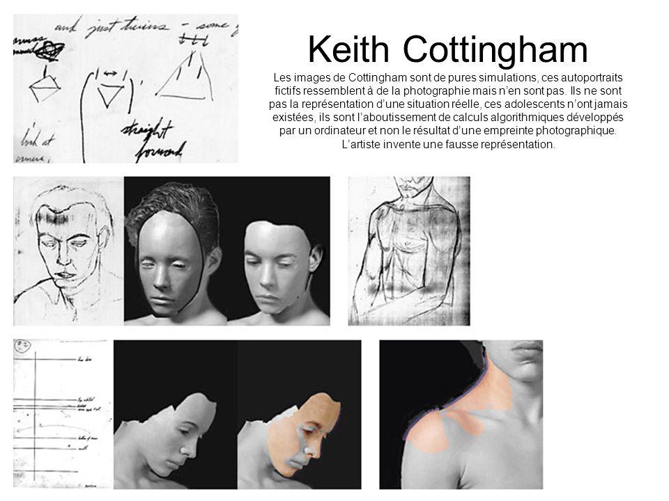 Keith Cottingham Les images de Cottingham sont de pures simulations, ces autoportraits fictifs ressemblent à de la photographie mais n'en sont pas.