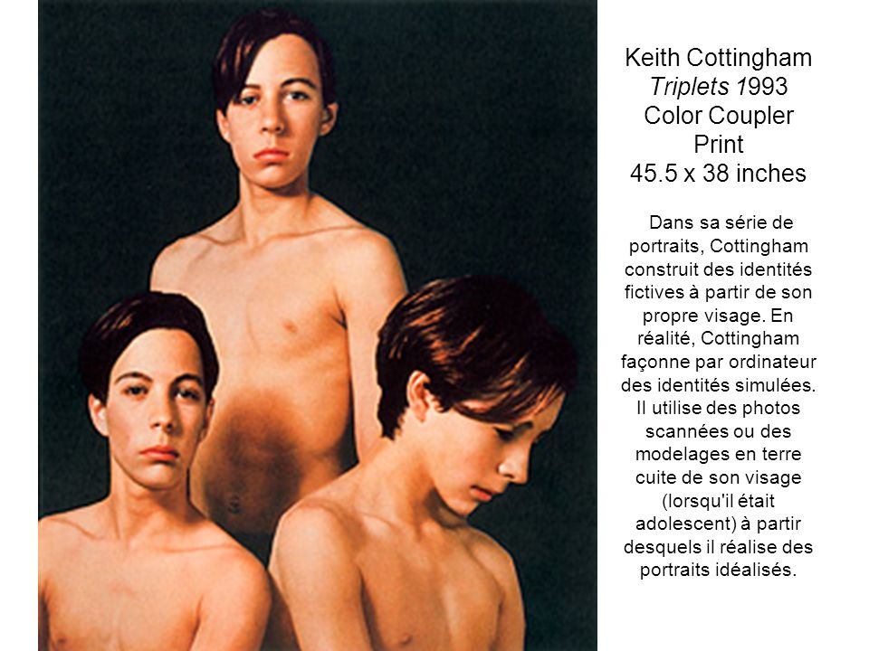 Keith Cottingham Triplets 1993 Color Coupler Print 45