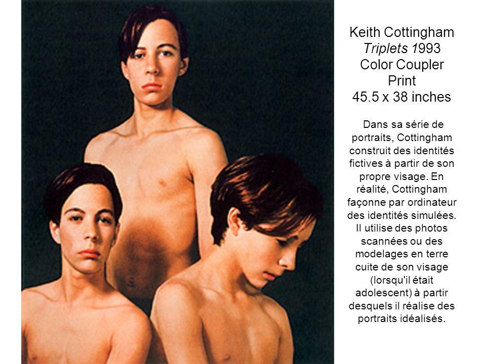 Keith Cottingham Triplets 1993 Color Coupler Print 45