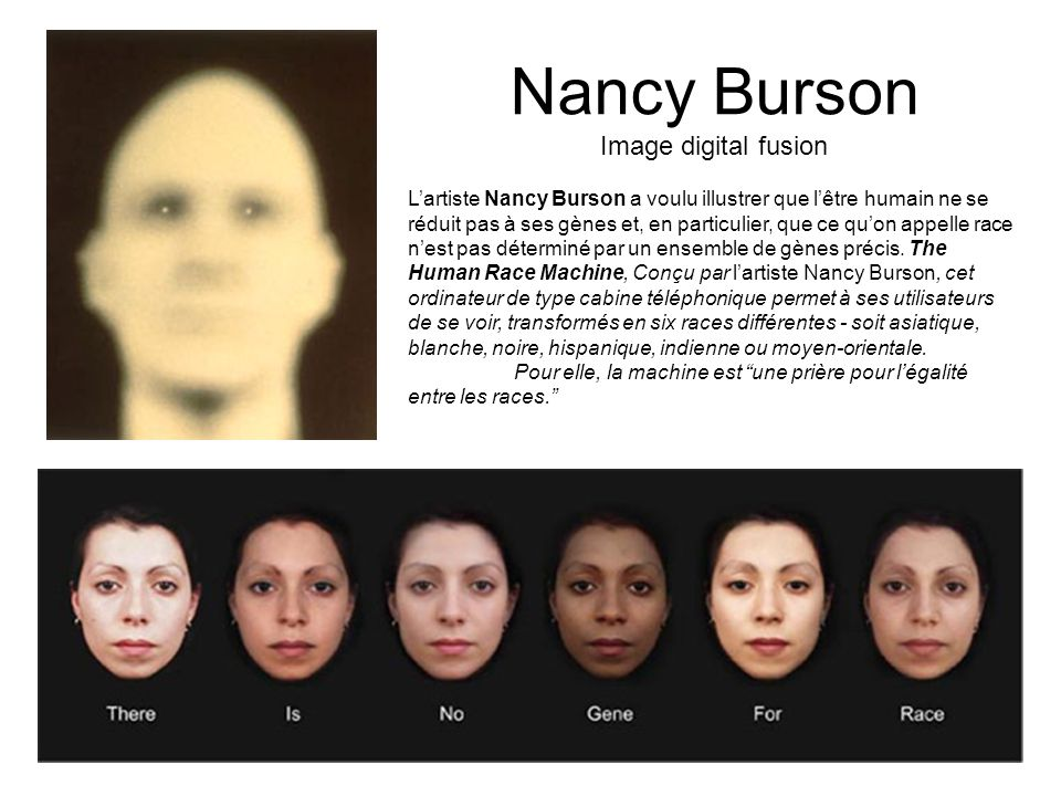 Nancy Burson Image digital fusion