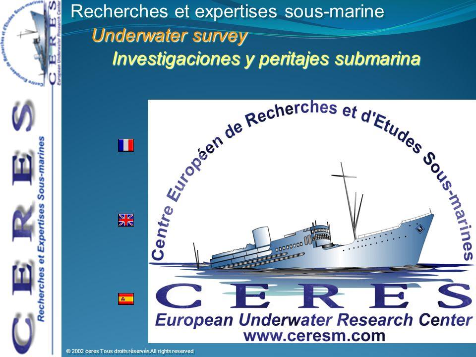 Recherches et expertises sous-marine Underwater survey