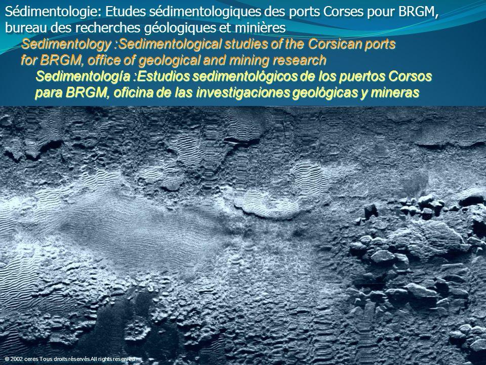 Sédimentologie: Etudes sédimentologiques des ports Corses pour BRGM,