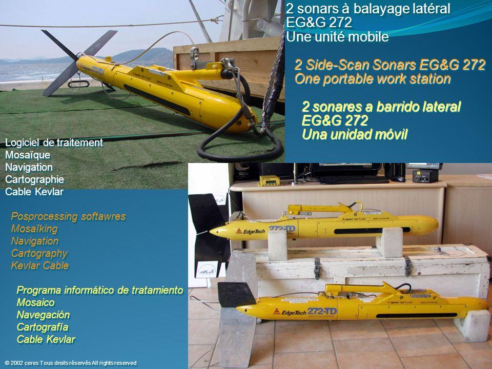 2 sonars à balayage latéral EG&G 272 Une unité mobile