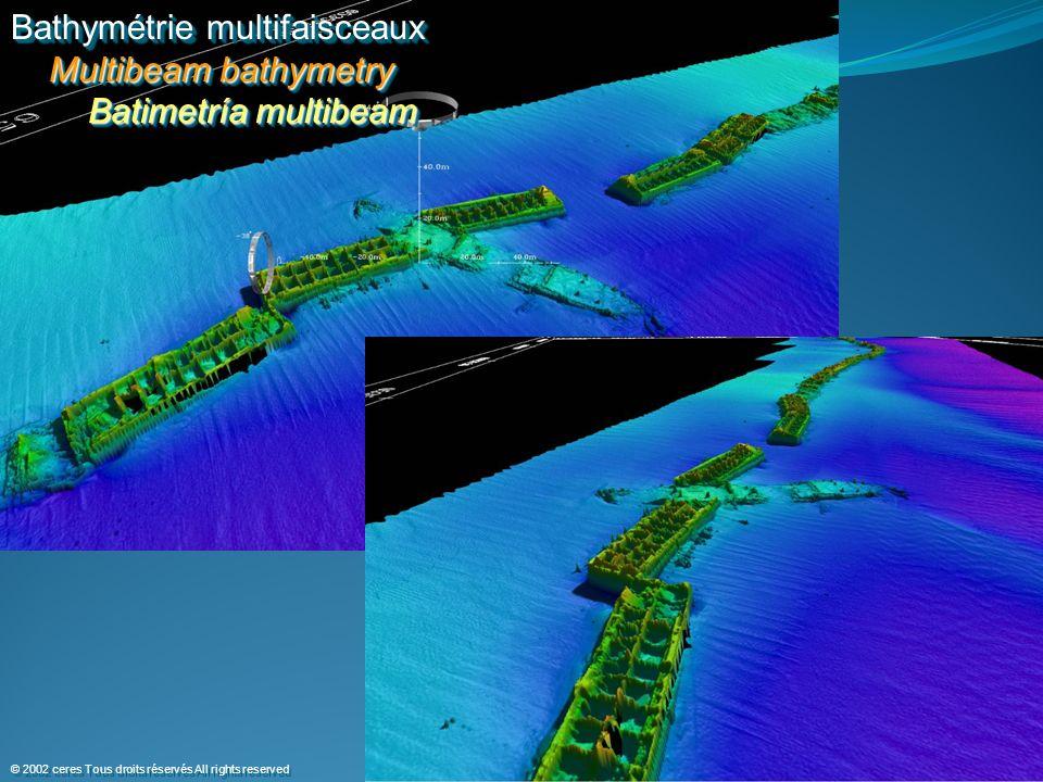 Bathymétrie multifaisceaux Multibeam bathymetry Batimetría multibeam